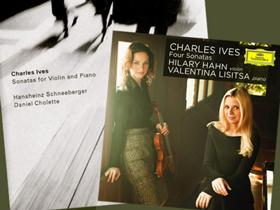 Violin sonatas of Charles Ives on CD