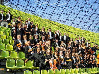 Münchner Symphoniker members at Munich's Olympic Park