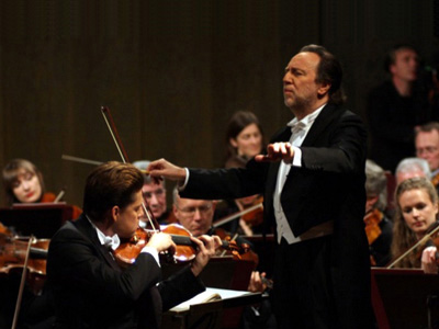 Julian Rachlin and Riccardo Chailly in Leipzig in January 2015