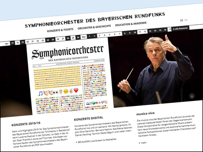 New website for the Bavarian Radio Symphony Orchestra