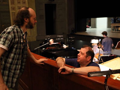 Ivor Bolton and Sidi Larbi Cherkaoui (left) confer in Munich's Prinz-Regenten-Theater
