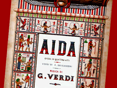 Casa Ricordi's piano-vocal score cover for Aida