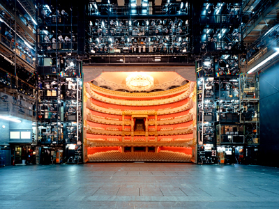 Stage of the National Theater, home of Bavarian State Opera, in Munich