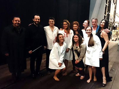 Cast and conductor for Rusalka in Munich in June 2017