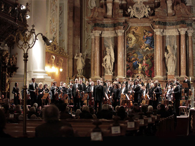 Valery Gergiev and orchestra at the Stiftsbasilika St Florian