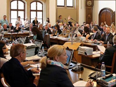 Munich's City Council, or Stadtrat, in January 2018