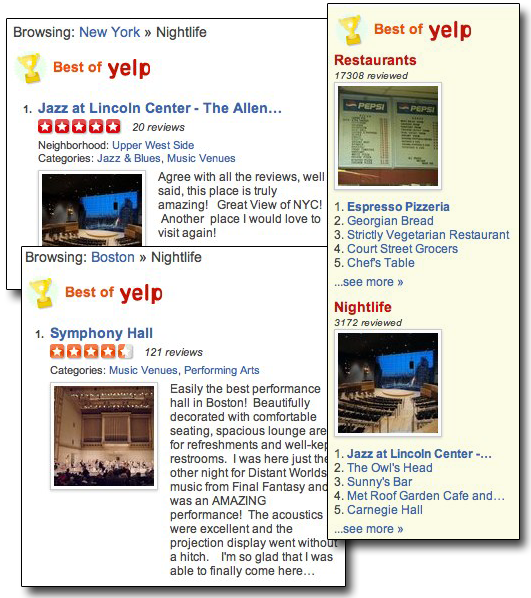 Yelp and the performing arts