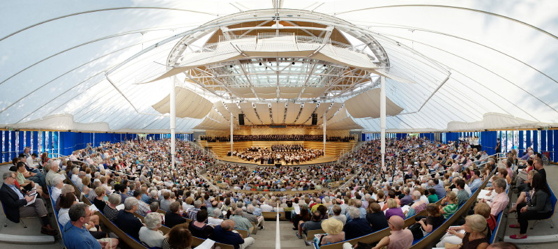 Inside the Benedict Music Tent at the Aspen Music Festival. PHOTO: Alex Irvin