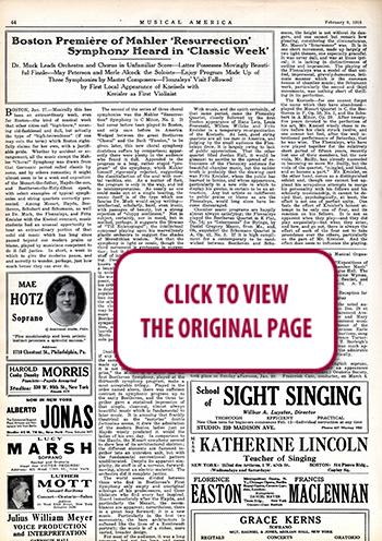 MusicalAmerica - 100 Years Ago